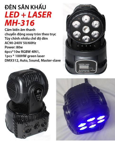 Đèn sân khấu Led + Laser MH-316