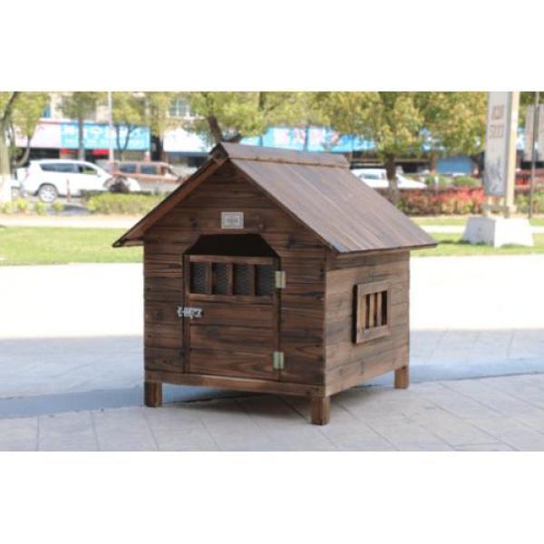 Chuồng cho chó bằng gỗ ngoài trời size 80x110 cm