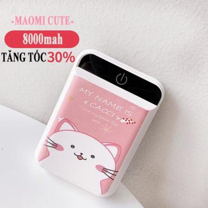 Giá Pin Sạc Dự Phòng Siêu Mini 8000mah Siêu Cute Siêu Nhỏ Gọn Nhiều Hình Dễ Thương 2 cổng USB sạc ra, sạc nhanh ổn định an toàn cho thiết bị sạc sac du phong cute