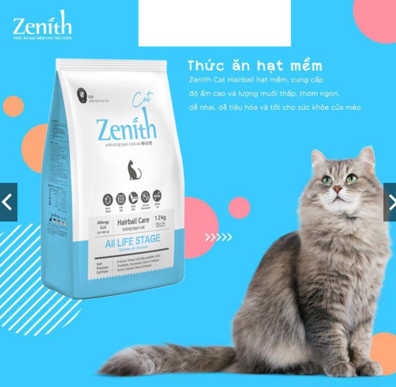 Zenith Thức ăn hạt mềm cho mèo Hairball 300G VÀ 1.2KG