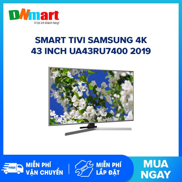 Bảng giá Smart Tivi Samsung 4K 43 inch UA43RU7400 Mẫu 2019