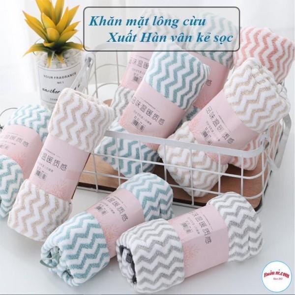 [Lấy mã giảm thêm 30%]Khăn mặt lông cừu cao cấp xuất Hàn siêu mềm mại an toàn cho cả em bé.