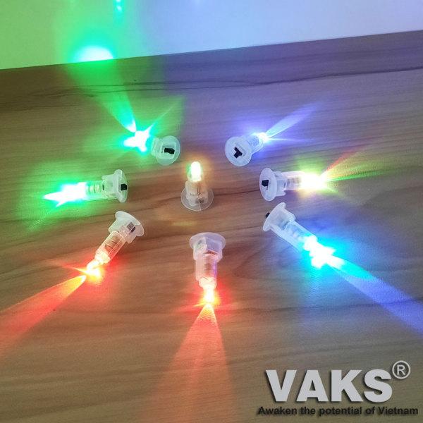 [HCM]ĐÈN LED CHỚP 7 MÀU DÙNG PIN -  lắp vào đèn lồng đèn trung thu đồ chơi trẻ em...