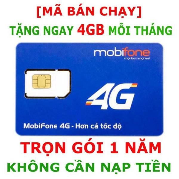 Siêu Sim 3G/4G Mobifone Trọn Gói 1 Năm Không Nạp Tiền