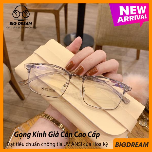 Mua [TẶNG KÈM HỘP] Kính cận gọng dẻo cao cấp Vintage BD905002 - Gọng kính giả cận Hàn Quốc - Bảo hành 12 tháng 1 đổi 1