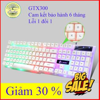 Bàn Phím Máy Tính + Chuột GTX300 Led 7 Màu- Bàn phím giả cơ gaming, Bàn phím Led phát sáng, Bàn phím giá rẻ, Bàn phím đẹp,Bảo Hành 6 Tháng thumbnail