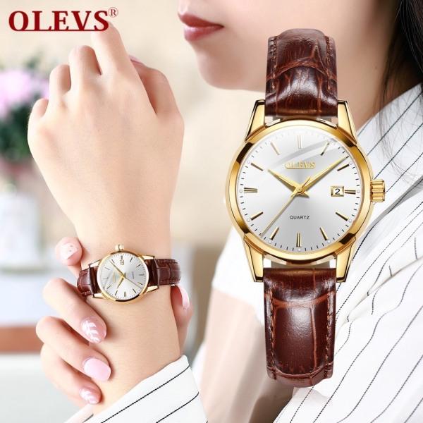 Đồng hồ nữ OLEVS chính hãng, chống nước , chống xước , dây da bò cao cấp bán chạy