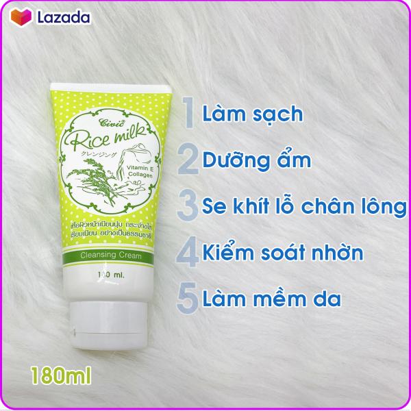 [HCM]Sữa Rửa Mặt Gạo Thái Lan Chuẩn Civic Rice Milk 180ml nhập khẩu