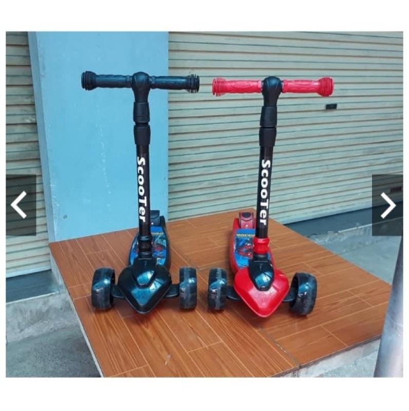 Mua Xe trượt Scooter Bánh to hàng Cao cấp (có giảm xóc + phanh chân + điều chỉnh cao thấp)