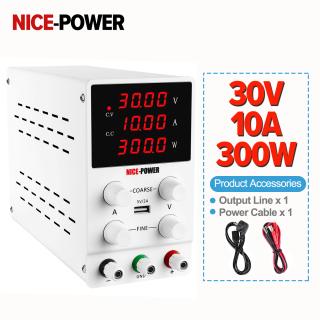 Nguồn điện DC 0-30 0-10A có thể điều chỉnh với cổng USB 5V 2A và màn hình Nguồn (W), thích hợp để sửa chữa các bộ phận điện tử và công nghiệp giảng dạy NICE POWER - INTL thumbnail