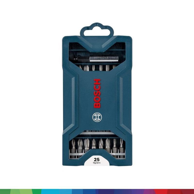 Máy khoan động lực Bosch GSB 550 + Bộ mũi vặn vít Bosch 25 món (xanh dương)