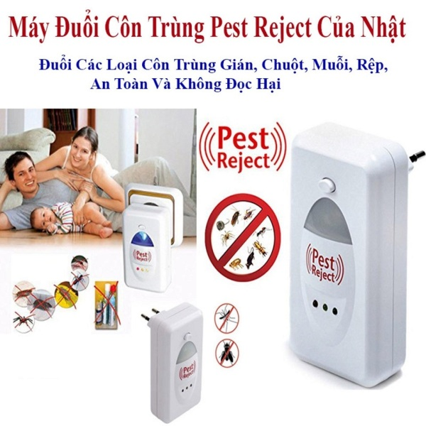 Máy đuổi côn trùng Pest Reject công nghệ tiên tiến của nhật đuổi các loại côn trùng ruồi.muỗi.chuột.gián an toàn không độc hại