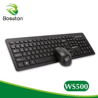 Combo Phím Chuột Ko Dây Bosston WS-500 Shop Combo phím chuột không dây Bosston WS-500 chính hãng . Combo ko dây Keyboard + Mouse BOSSTON WS500 Chính Hãng Combo không dây Bosston WS-500 - VSP Combo Bàn Phím + Tặng Chuột Không Dây Bosston WS500 .. thumbnail