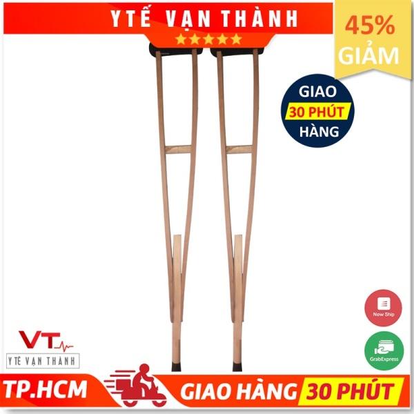 ✅ [1 CÂY] Nạng Gỗ - Nạng Chống Nách Gỗ Tốt - Hàng Việt Nam Cao Cấp - VT0411 [ Y Tế Vạn Thành ] nhập khẩu