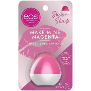 Son màu dưỡng ẩm quả trứng eos Shea + Shade Tinted Lip Balm - Make Mine Magenta 24 Hour Hydration 7g (Mỹ) thumbnail