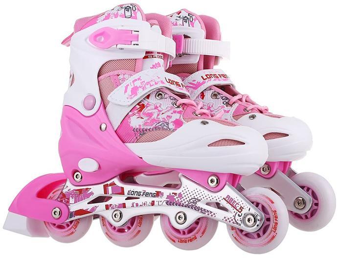 Giá bán Giày trượt Patin cao cấp Long Feng 906 (4 Màu ) Đỏ - Đen Trắng - Xanh - Hồng - Size S, M, L (30 - 42)