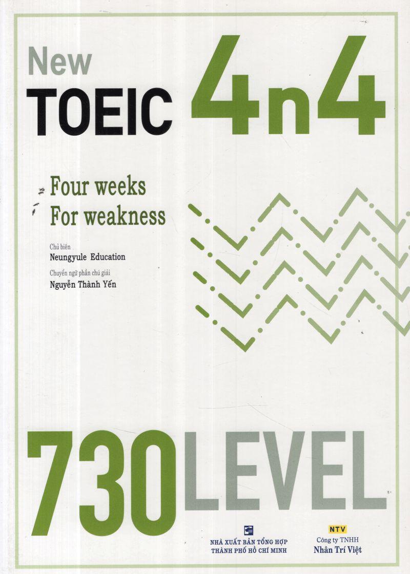 Sách New TOEIC 4n4 - 730 Level (Kèm CD)