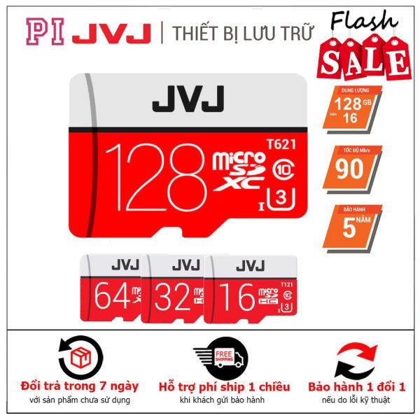 Thẻ nhớ 128Gb/64Gb/32Gb/16Gb JVJ Pro U3 Class 10–chuyên dụng cho CAMERA, Điện thoại, Máy ảnh,... tốc độ cao 95Mb-140Mb/s