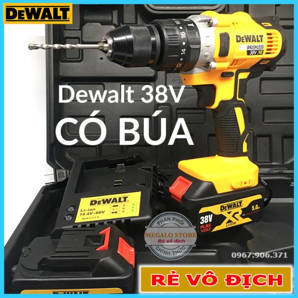 Máy Khoan Pin Dewalt 38V Có Búa, Motor 775 Model DWDCD 796, Bản mới 2020