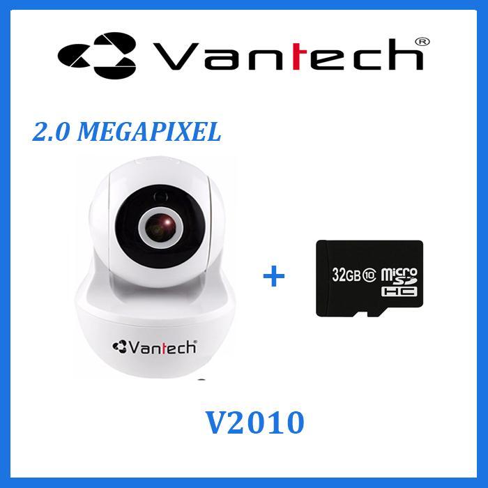Camera wifi robot Vantech V2010 2.0MEGAPIXEL tặng Thẻ nhớ 32GB