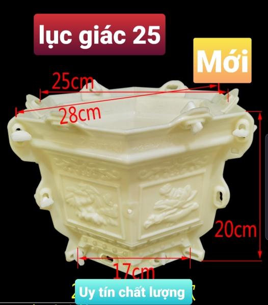 khuôn đúc chậu lục giác 25 * 20 ( khuôn ABS có lòng trong siêu bền) cơ bản dễ sử dụng