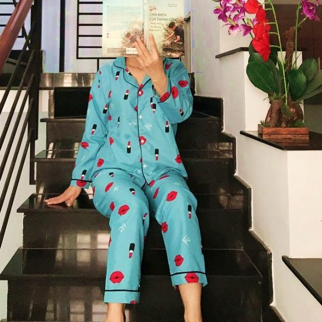 Đồ Bộ Pijama Tay Dài Vải Kate Thái Loại 1 Siêu Min Đẹp Freesize 45kg Đến 59kg Đều Vừa CAM KẾT ĐÚNG MẪU Nhật Bản