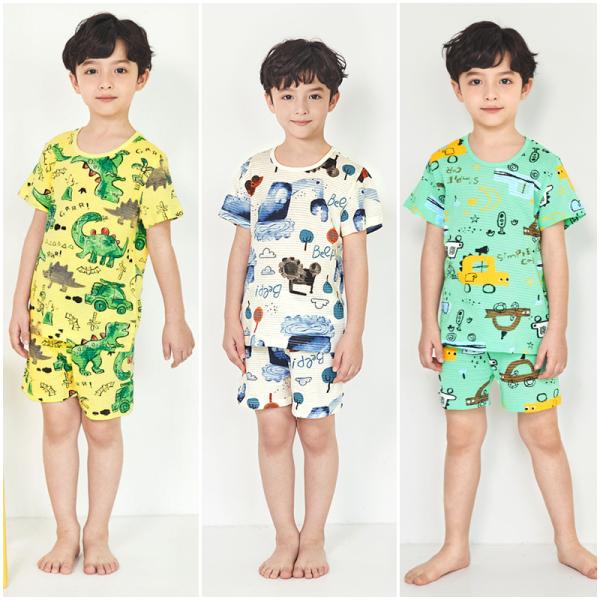 Nơi bán Bộ đồ mặc nhà bé trai Unifriend Hàn Quốc Uni003 cho bé 1-10 tuổi, vải cotton organic Korea. Đồ ngủ cao cấp, chính hãng cho bé.