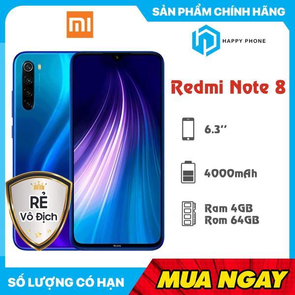 Điện  thoại Xiaomi Redmi Note 8 RAM 4GB ROM 64GB - Sẵn Tiếng Việt, Hàng mới 100%, Nguyên seal, Bảo hành 18 tháng