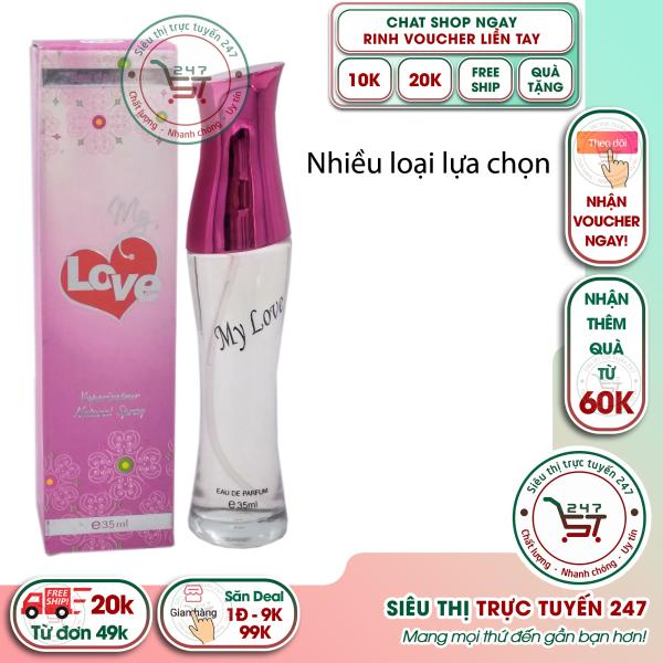 Nước hoa nữ My Love mùi ngọt ngào chai 35ml màu hồng đậm|Siêu thị trực tuyến 247