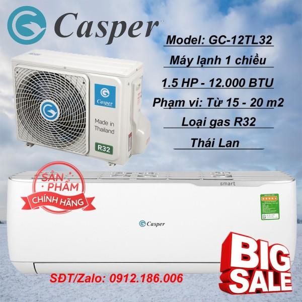 Máy lạnh Casper Inverter 1.5 HP (12.000BTU) GC-12TL32 - Hàng chính hãng (LIÊN HỆ VỚI NGƯỜI BÁN ĐỂ ĐẶT HÀNG)