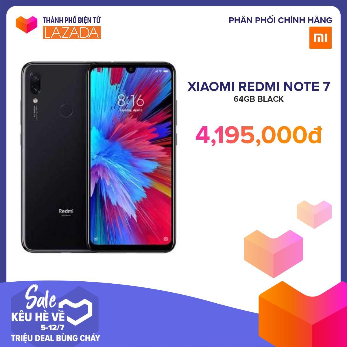 Điện Thoại Xiaomi Redmi Note 7 64GB/Ram 4G - Hãng phân phối chính thức
