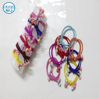 Combo 2 dây cột tóc Hàn Quốc đính mặt cười siêu xinh siêu dễ thương thumbnail