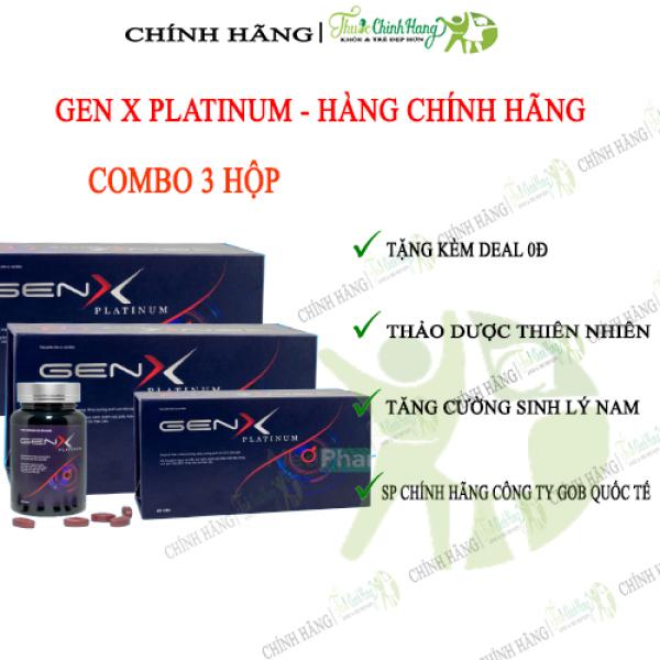 GEN X PLATINUM COMBO 3 HỘP - Viên Uống Tăng Cường Sinh Lý Nam HỘP 24 VIÊN