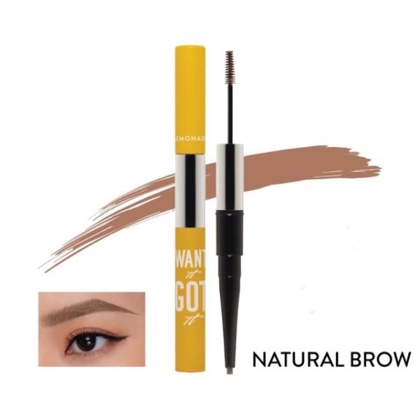 Chì kẻ mày 2 đầu Lemonade Want It Got It Dual Eyebrow Natural Brown 4g tốt nhất