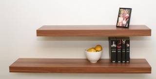 Kệ gỗ treo tường ngang 50cm x sâu 15cm thumbnail