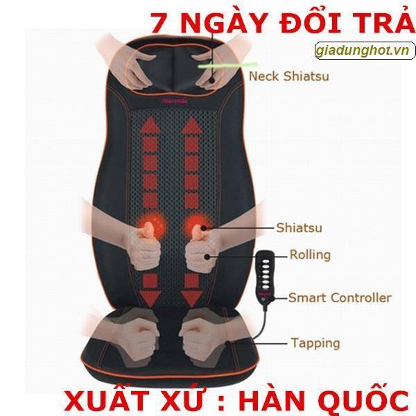 Ghế Đệm massage toàn thân PH-958 (Đen) (Hàn Quốc)(dùng ở nhà và trên oto)-Nằm hay ngồi đều được.Ghế mát xa đa chức năng số 1 Hiện nay.Ghế massa giá rẻ tốt nhất