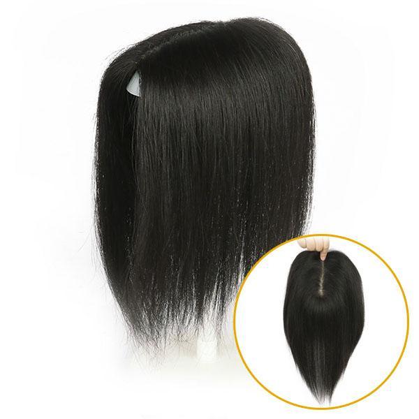Tóc mái hói đỉnh sợi thật siêu da đầu TMT1 5cm X 8cm / Màu tự nhiên / 20cm