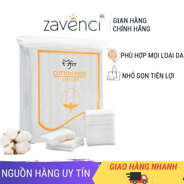 Bông tẩy trang 3 lớp cotton pads zavenci 222 miếng, làm sạch da, mềm mịn khi dùng, an toàn cho da, thích hợp mọi loại da