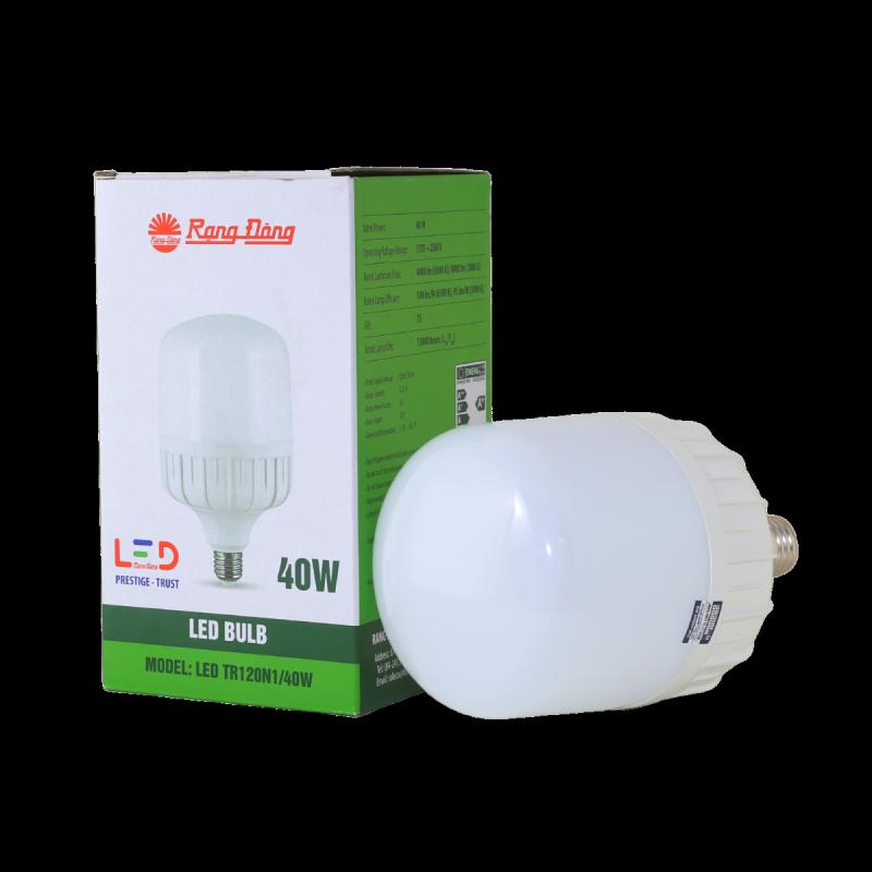 Bóng đèn LED Rạng Đông Bulb trụ TR120N1 – 40W chip led SS chất lượng ánh sáng cao góc mở sáng rông chịu nhiệt tản nhiệt nhanh