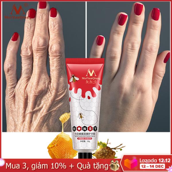 MeiYanQiong Kem dưỡng da tay chiết xuất mật ong sữa giúp làm trắng và phục hồi làn da chống nứt nẻ dưỡng ẩm - INTL