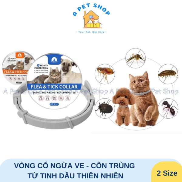 Vòng cổ ngừa ve bọ chét côn trùng cho chó mèo chiết xuất từ tinh dầu thiên nhiên Taotaopets - a pet shop