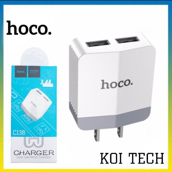 Cốc sạc củ sạc nhanh 2 cổng quick charge 3.0 hoco c13b Dual  - Output 3.4A