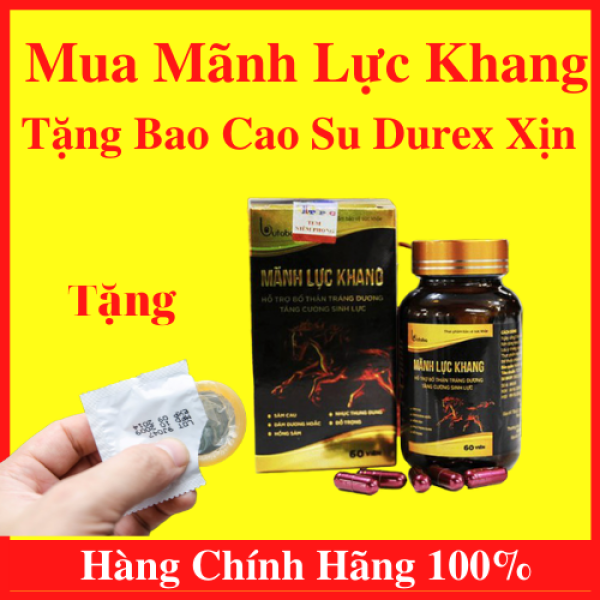 Bộ Đôi Mãnh Lực Khang Plus - Viên Uống Sinh Lý Dành Cho Phái Mạnh (Hộp 60 viên) Và Bao Cao Su Chính Hãng Durex Giúp Cuộc Yêu Thêm Trọn Vẹn Từng Giây - AN001 nhập khẩu