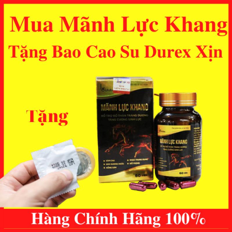 Bộ Đôi Mãnh Lực Khang Plus - Viên Uống Sinh Lý Dành Cho Phái Mạnh (Hộp 60 viên) Và Bao Cao Su Chính Hãng Durex Giúp Cuộc Yêu Thêm Trọn Vẹn Từng Giây - AN001