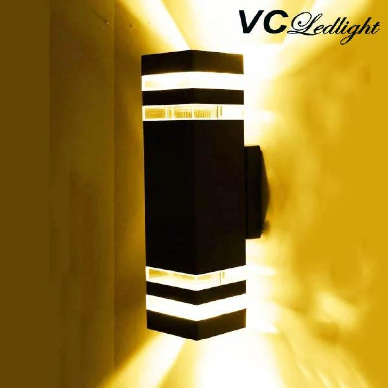 ĐÈN TƯỜNG HIỆN ĐẠI. Ánh sáng vàng. Vỏ đèn hợp kim siêu bền. Nguồn điện 220v Thích hợp dùng làm đèn tường trong nhà hoặc hiên, sân, cổng