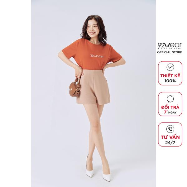 Nơi bán Quần short nữ công sở 92WEAR, cạp liền, thiết kế khóa sườn tiện lợi, 5 màu trẻ trung SVW1150