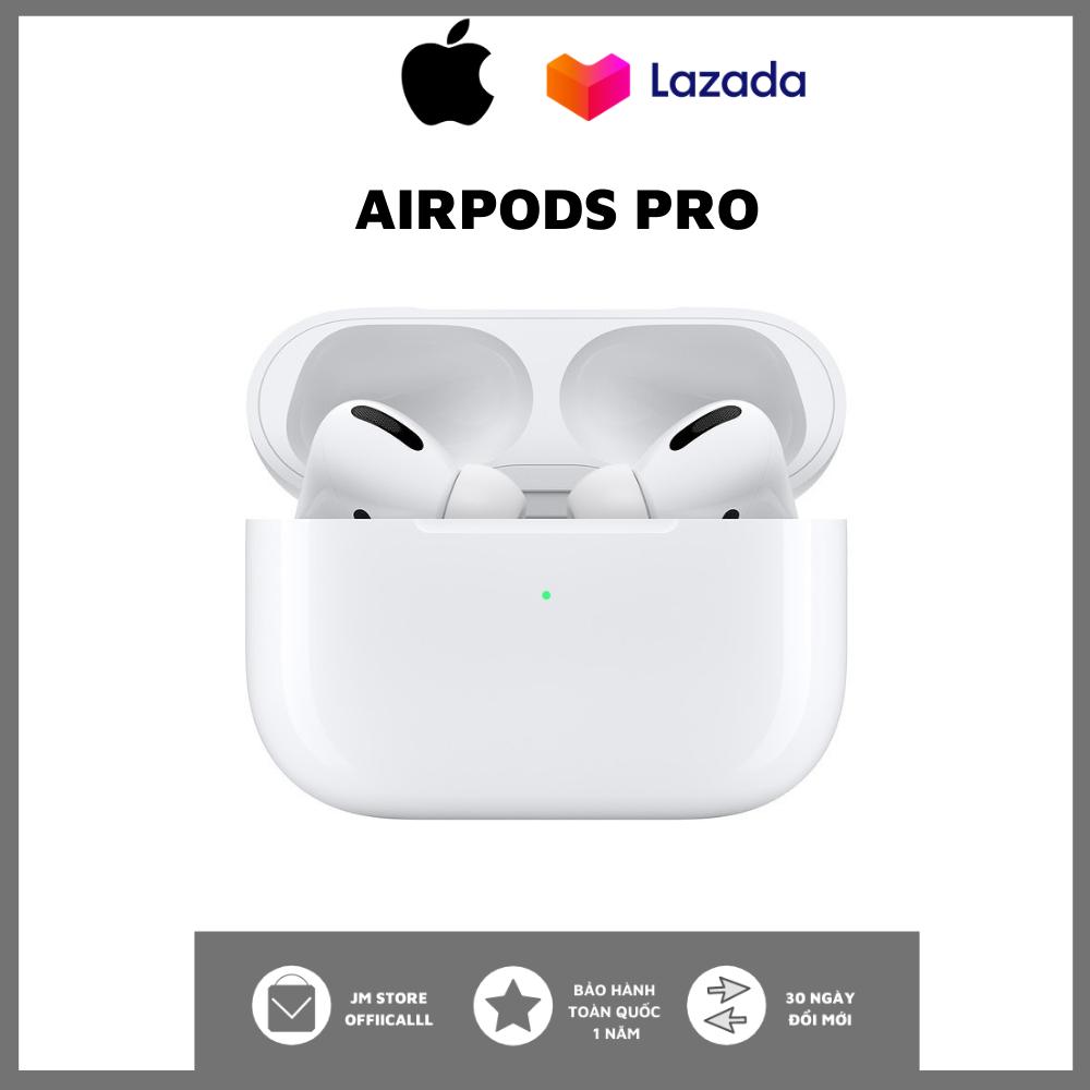 Tai Nghe Bluetooth Apple AirPods Pro - Tai Nghe Không Dây Nhét Tai Iphone Bass Mạnh - Sử Dụng Lên Tới 24h - Công Nghệ Xuyên Âm - Chống Ồn Chủ Động - Định Vị Google Map - Đổi Tên - Cảm Ứng Đa Điểm - Kháng Nước & Mồ Hôi IP4