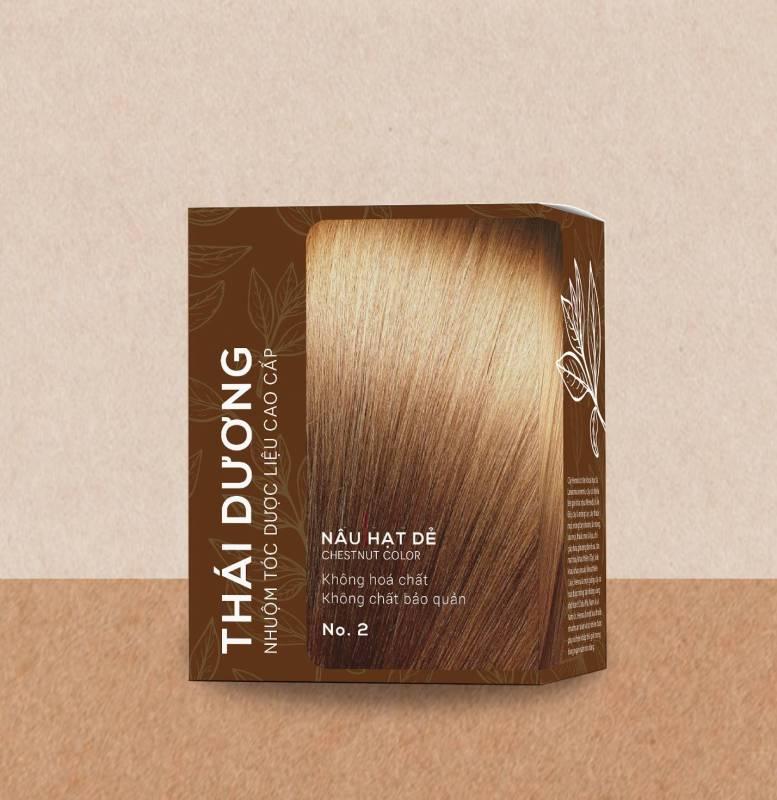 Nhuộm tóc 100% dược liệu thái dương nâu hạt dẻ (Hộp 5 gói x 15g) cao cấp