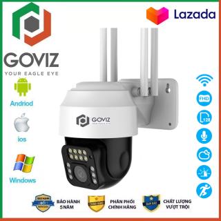 Camera wifi - Camera yoosee Goviz Camera ptz 4 râu ngoài trời với thiết kế chống nước tuyệt đối, hiển thị 3.0MPX- FULL HD 1080, hiện thị màu sắc ban đêm, xoay 360 độ (MÃ KÈM THẺ 735K VÀ KHÔNG THẺ 585K) thumbnail