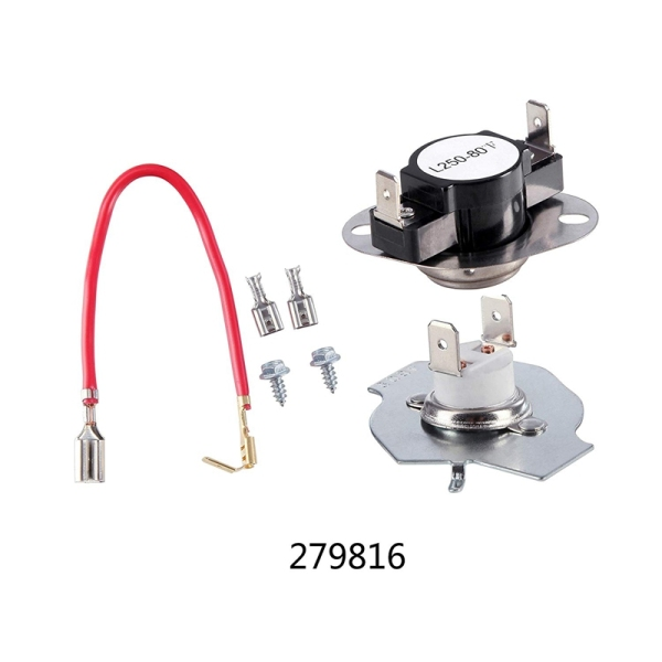 Bảng giá Dryer Replacement Parts Set 3387747 Dryer Heating elements and 279816 Thermostat Kit and 279973 3392519 Compatible Hot Melt Fuse Replacement Điện máy Pico